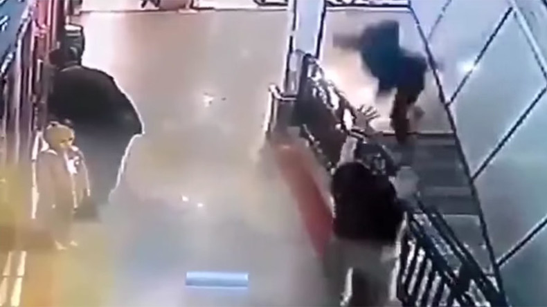 Catch of the day: Man saves falling boy (VIDEO)
