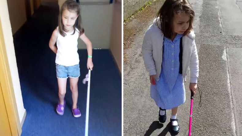 Blind 7yr old girl banned from using cane in school leaves after 'online bullying'