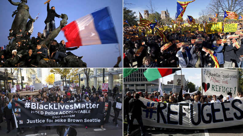From #PrayForParis and (anti-)Pegida to #BlackLivesMatter: The protests & rallies that shaped 2015