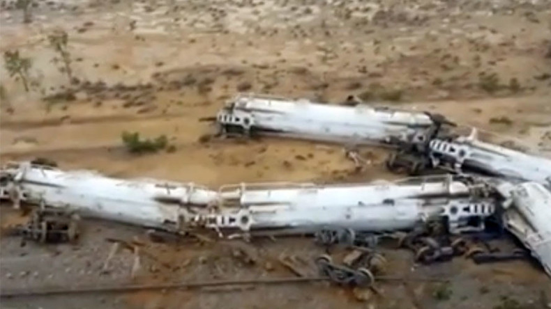 Over 30,000 liters of sulfuric acid leaked in Australian train crash, cargo totaled 819,000 liters