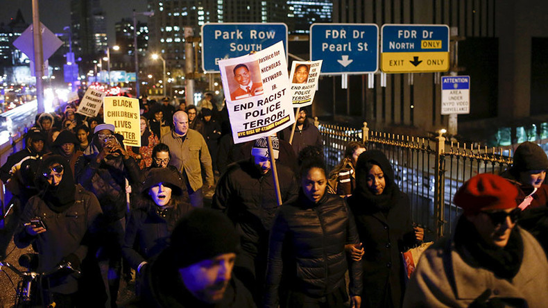 'I am Tamir': Streets, Brooklyn Bridge shut down in NYC after shooter of 12yo Rice walks free