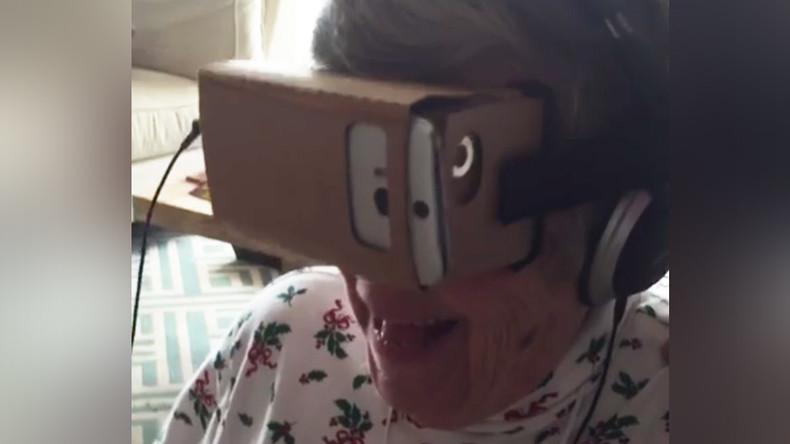 VR roller coaster sends granny over the edge