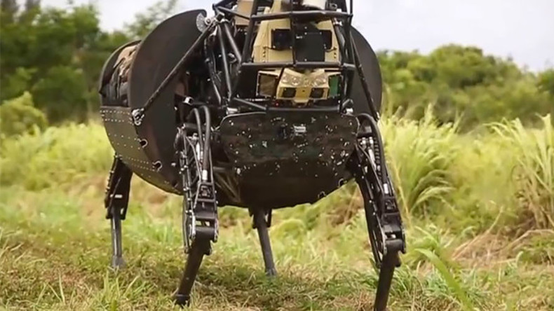 Hee-Haw! DARPA's noisy robotic 'pack mule' mothballed over fears it could spill the beans