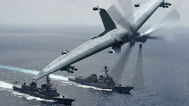 DARPA's new military drone could morph destroyers into aircraft carriers