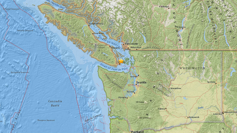 4.9 quake hits near Victoria, Canada; shaking felt in Seattle
