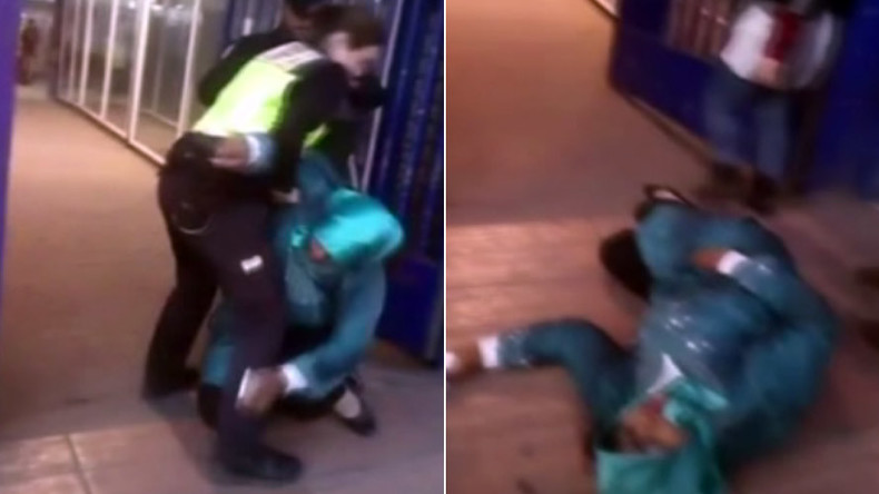 Spanish cops dump Moroccan immigrant in wheelchair onto pavement (VIDEO)