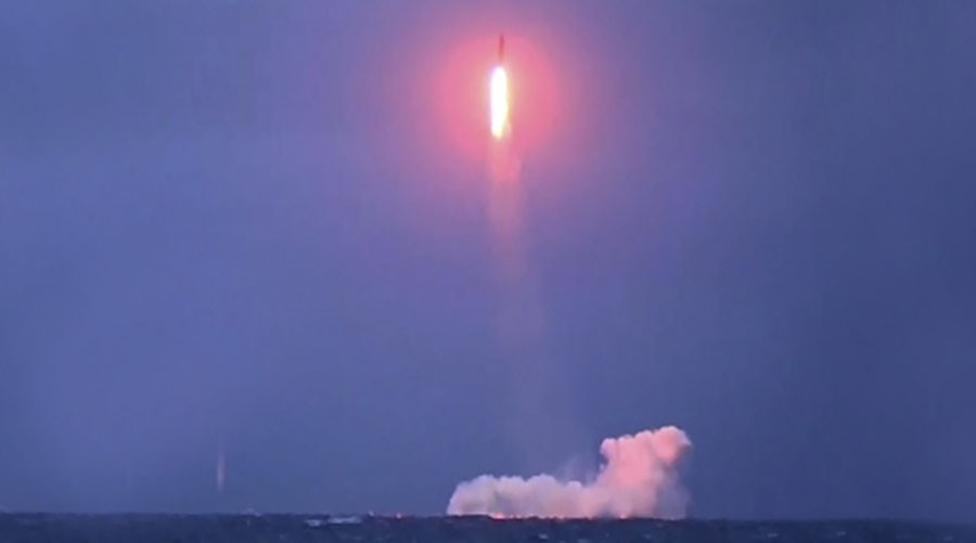 Russian nuclear sub successfully test-fires strategic Sineva missile (VIDEO)