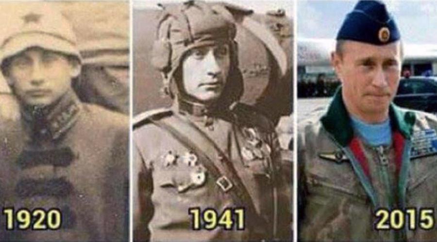 Conspiracy theorists 'prove' Vladimir Putin is actually immortal