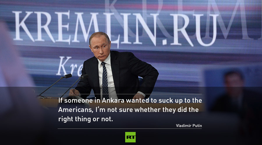 Putins Best QA Quotes From Ankara Sucking Up To US Trump Being Absolute Frontrunner
