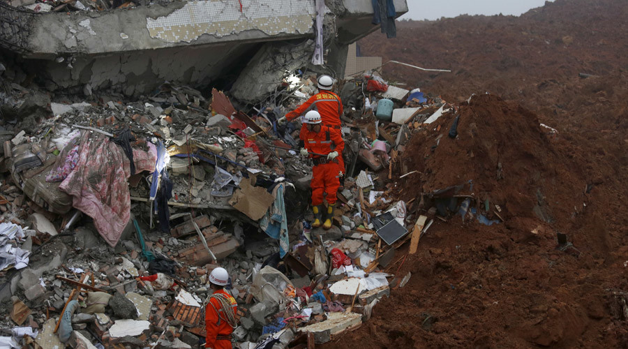 Landslide in southern China leaves almost 60 people missing, causes gas pipeline blast