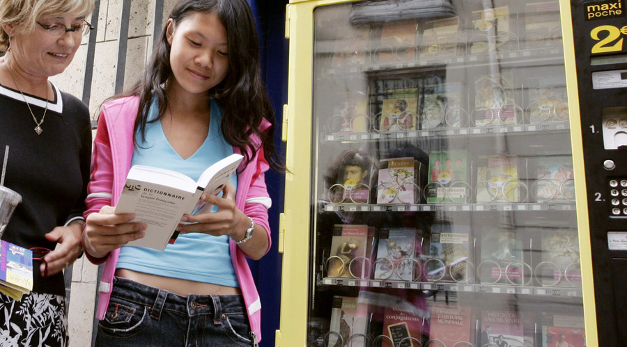 Novel idea: Vending machine will swap unwanted gifts for books