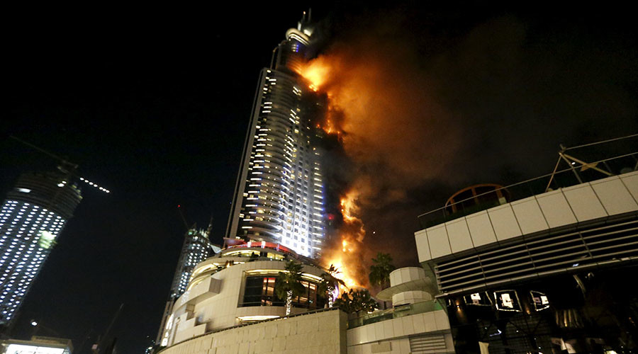 Inferno at 63-story luxury hotel in Dubai near New Year's Eve fireworks display (PHOTOS, VIDEOS)