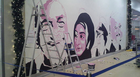 Hijab for hair: Swedish painters asked to change shopping mall mural