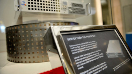 Pirate Bay's first server is displayed at the Technical Museum in Stockholm April 16, 2009.© Jessica Gow
