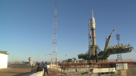 Soyuz spacecraft ready for launch, 1st Brit on board since 1991 (VIDEO)