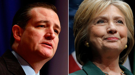 US Republican presidential candidate Sen. Ted Cruz (L) US Democratic presidential candidate Hillary Clinton © Str