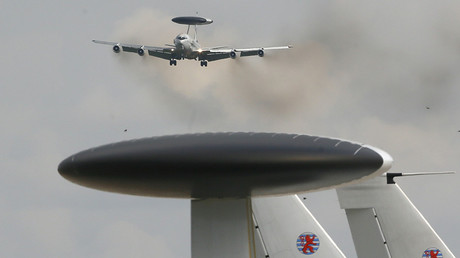 A NATO AWACS (Airborne Warning and Control Systems) aircraft  © Wolfgang Rattay