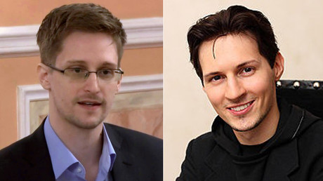 Edward Snowden (L) and Pavel Durov © wikipedia.org