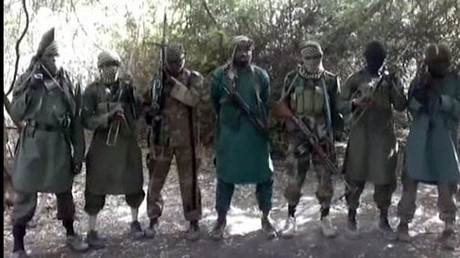 Abubakar Shekau (C), the suspected leader of Nigerian Islamist extremist group Boko Haram © AFP Photo