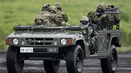 Japanese Ground Self-Defense Force soldiers ©  Yuya Shino