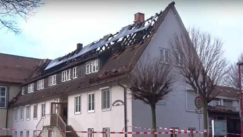 Fire damages young people's refugee shelter in Germany on New Year's Day (VIDEO)