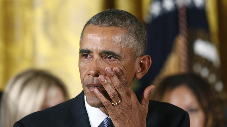 Obama sheds tears for America - a nation in crisis