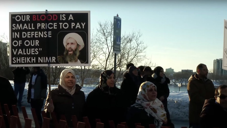 Protesters in Canada oppose $10.5bn deal with Saudi Arabia