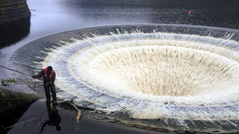 Dam, that's impressive! Heavy rains flood UK Ladybower Reservoir's 'plugholes'