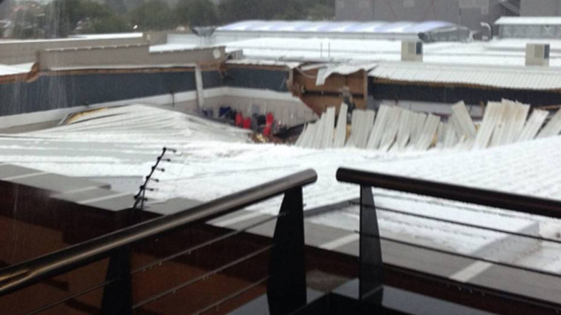 Summer hailstorm batters Johannesburg area, destroys shopping mall roof (PHOTOS)