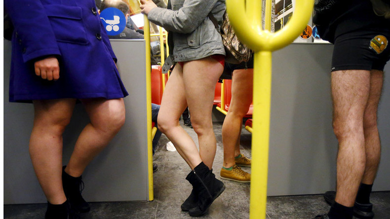 Pants down! Half-naked passengers take part in NoPantsSubwayRide