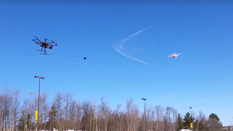 Net-shooting 'drone catcher' billed as solution to 'rogue' UAVs