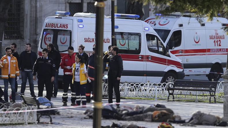 At least 10 foreigners killed, 15 wounded in suicide bombing on central Istanbul square