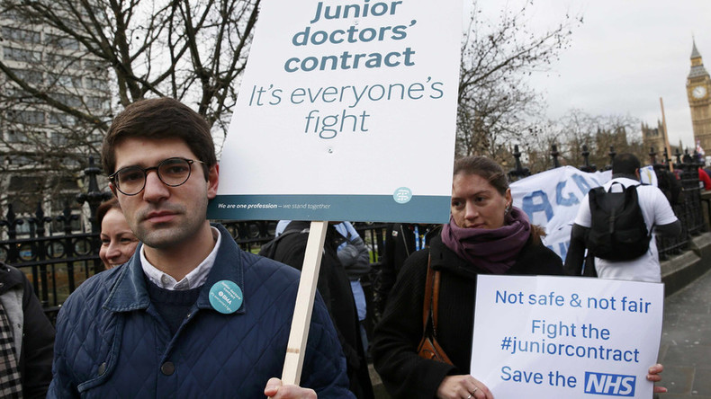 #JuniorDoctorStrike: 'Contract proposals will kill the NHS,' London medics tell RT