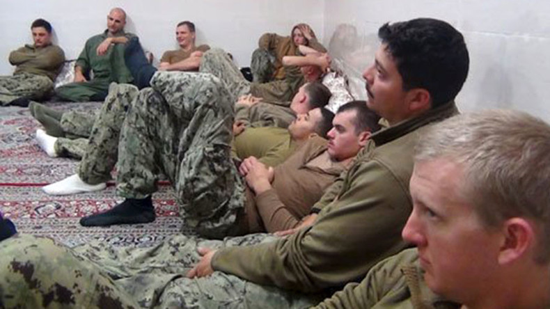 Boats, guns and tea: Iran releases video of detaining US sailors