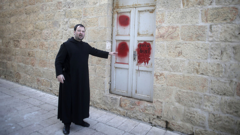 Christian monastery in Jerusalem vandalized by alleged Jewish extremists