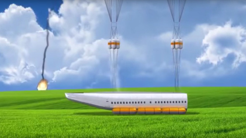 Inventor reveals 'detachable cabin' that can save lives during plane crash