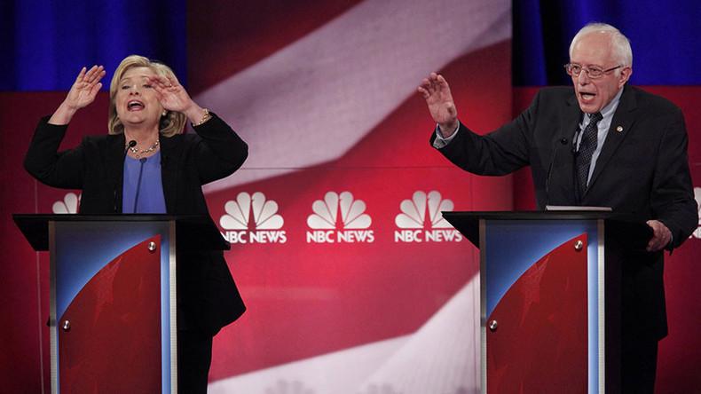 Clinton, Sanders tussle over Wall St, gun control, chemical weapons in pres debate