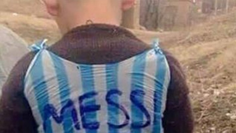 Young fan's makeshift Messi jersey sets social media on fire