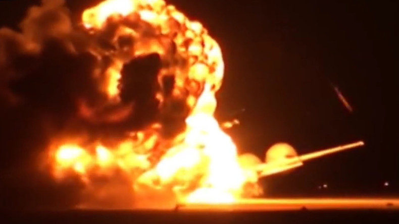 Russian Tu-95 'Bear' strategic bomber explodes on runway (VIDEO)