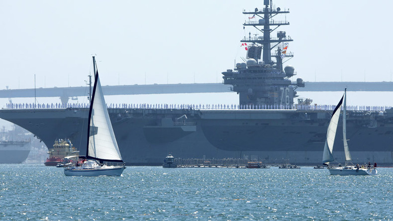 US Navy deploys first 'Great Green Fleet' ships partly powered by biofuel