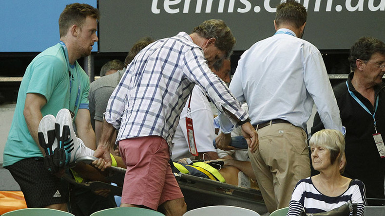 Ivanovic coach Nigel Sears collapses during Australian Open match