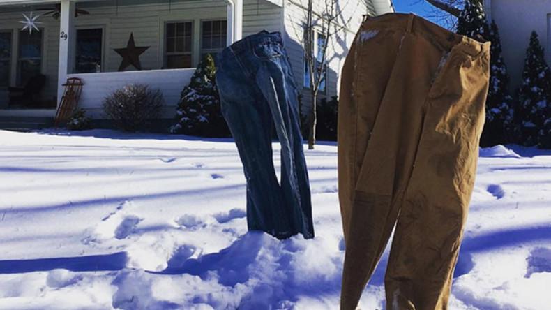 #FrozenPants: Blizzard season spawns hot trend (PHOTOS)