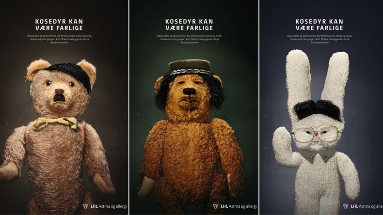 Hard to bear: Hitler, Gaddafi, Kim Jong-il teddies front Norway health campaign