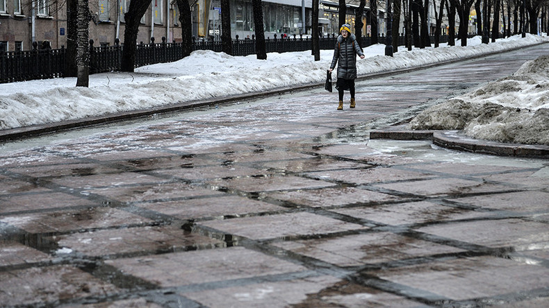 Sudden warmth + rain = icy swamps in Moscow (PHOTOS, VIDEO)