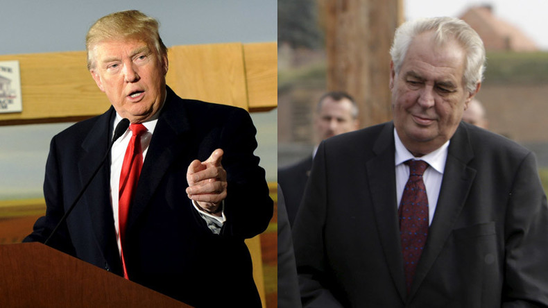 Kindred spirits across Atlantic: can you tell Donald Trump from the Czech president?