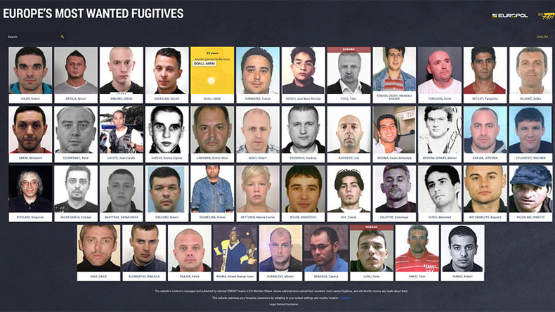 Recognize anyone? EU launches 'most wanted' fugitives website