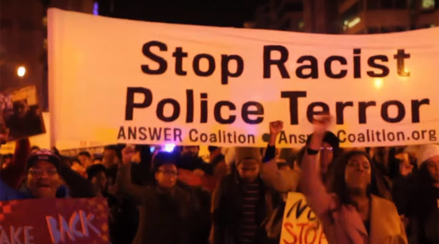 Black Lives Matter holds end-of-year protest in Washington (VIDEO)