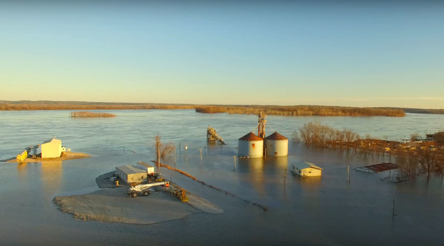 Waterworld: Drone captures historic Missouri flooding and damage
