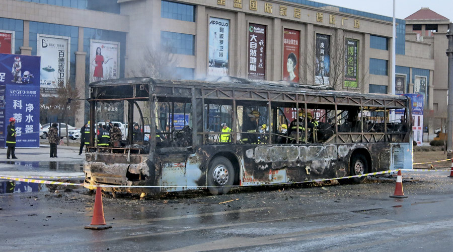 At least 17 killed, dozens injured in bus fire in northern China (PHOTOS, VIDEO)