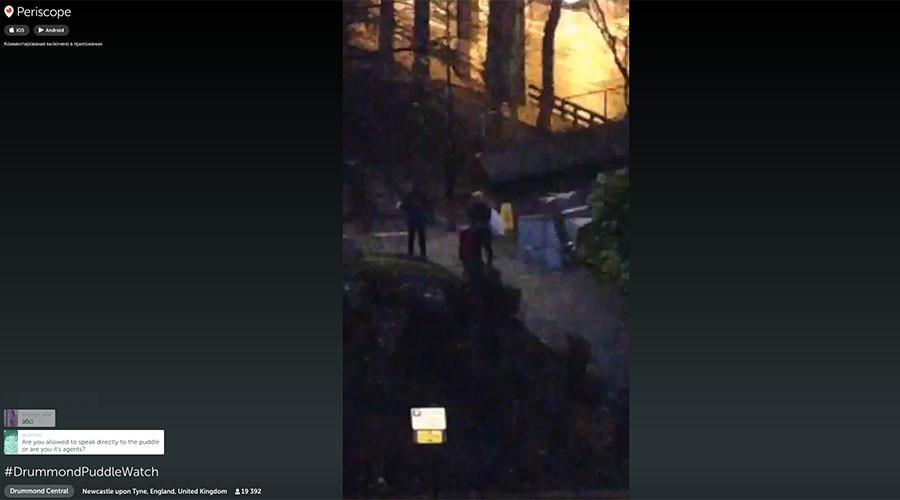 #DummondPuddleWatch: Live stream of dirty English water captivates internet